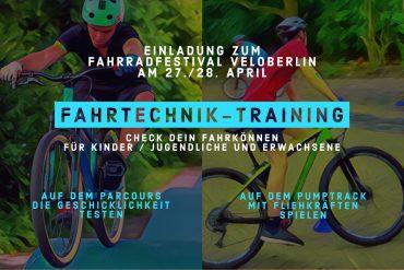 BETTER BIKING – Training der Fahrtechnik und Fahrsicherheit auf dem VELOBerlin Fahrradfestival im April